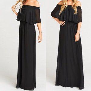 Show Me Your Mumu Black Hacienda Maxi Dress